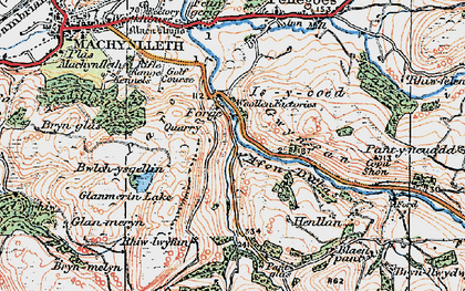 Old map of Allt-cae-melyn in 1921