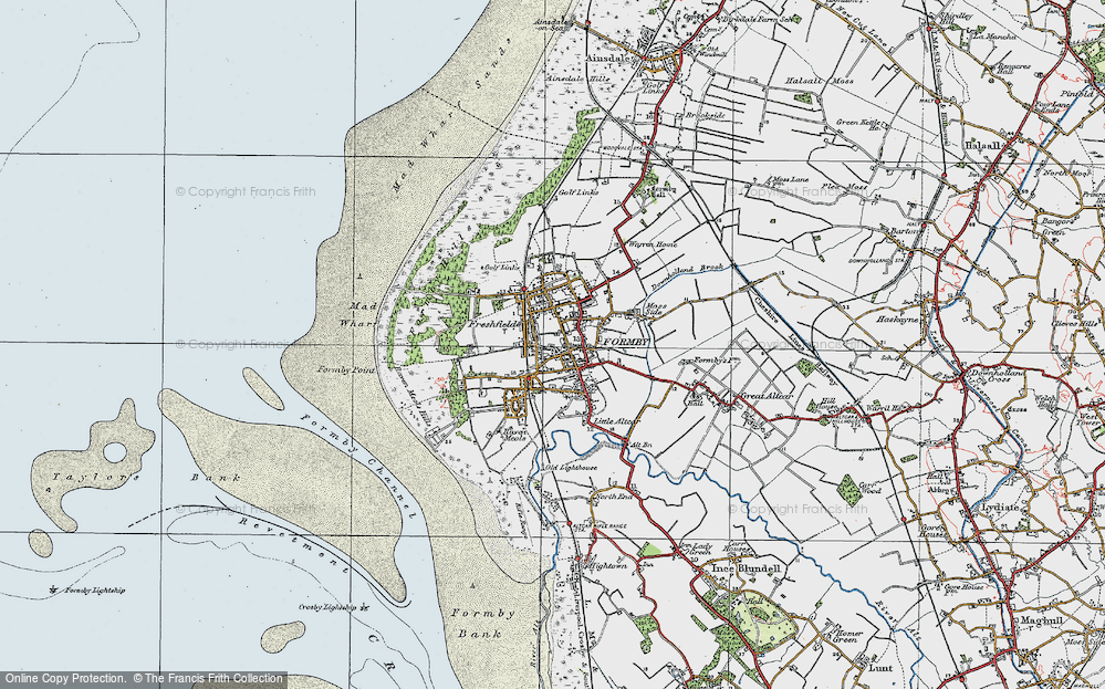 Old Map of Formby, 1923 in 1923