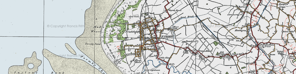 Old map of Formby in 1923