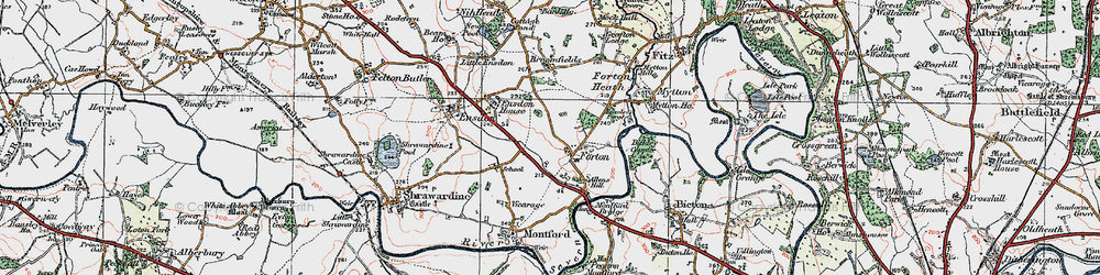 Old map of Forton in 1921