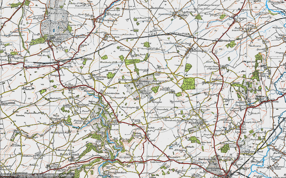 Old Map of Foscote, 1919 in 1919