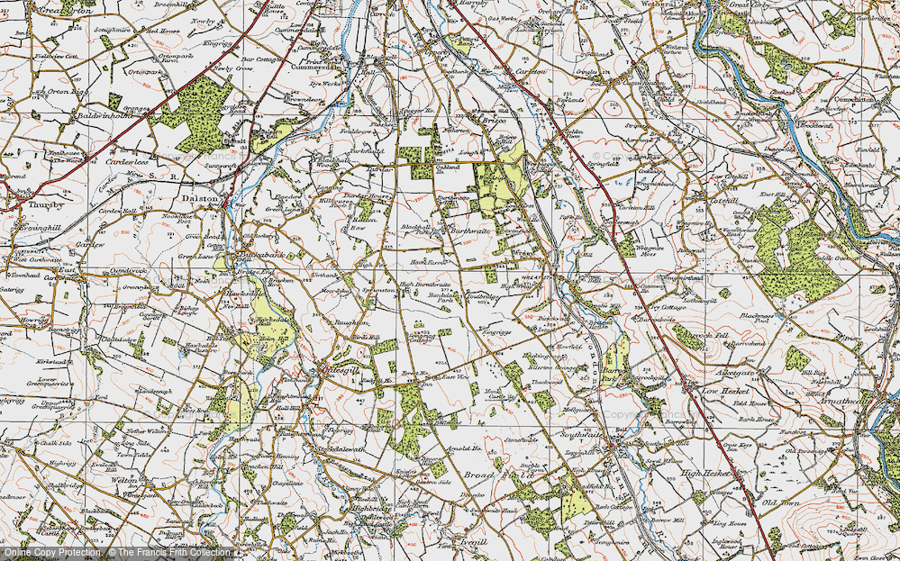 Old Map of Historic Map covering Bankdale Park in 1925