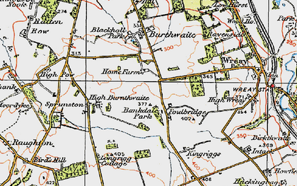 Old map of Bankdale Park in 1925