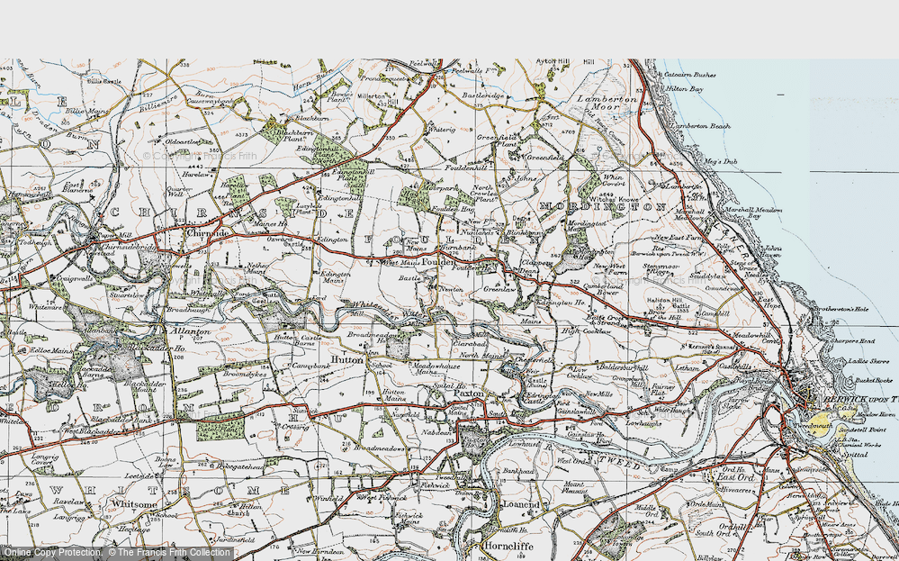 Old Map of Historic Map covering Woodlands in 1926