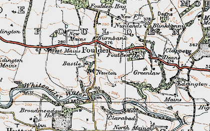 Old map of Woodlands in 1926