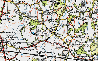 Old map of Four Elms in 1920