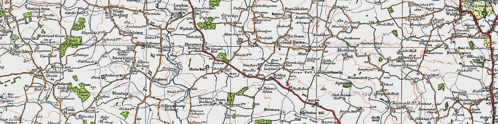 Old map of Amadyes in 1919