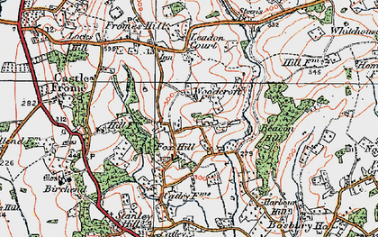 Old map of Leadon Court in 1920