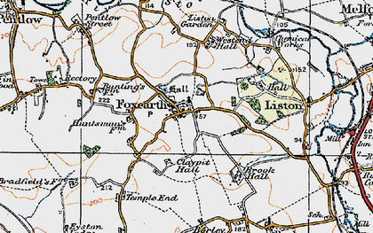 Old map of Foxearth in 1921