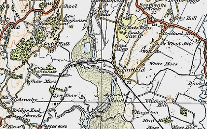 Old map of Foxfield in 1925