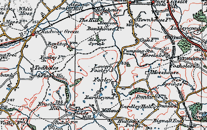 Old map of Bank Top in 1921