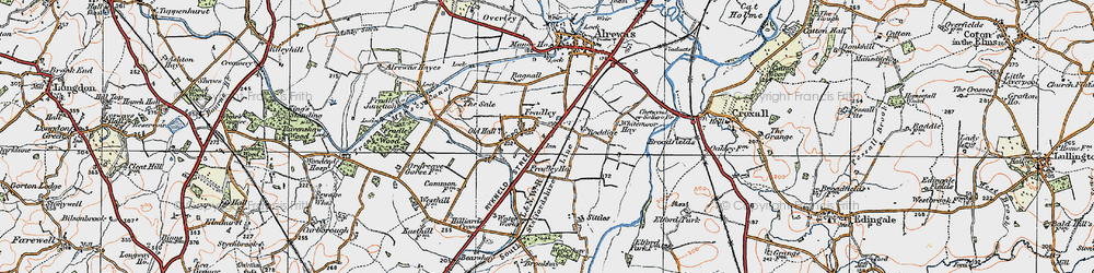 Old map of Whitemoor Haye in 1921