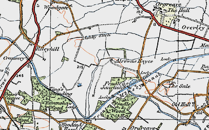 Old map of Ashby Sitch in 1921