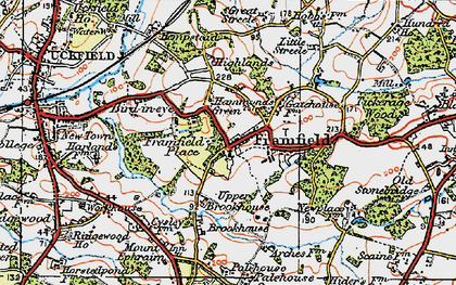 Old map of Framfield in 1920