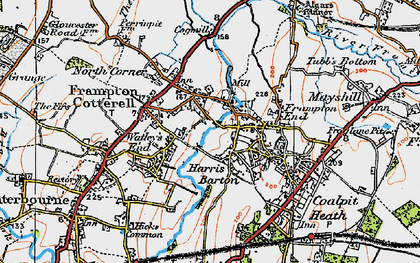 Old map of Frampton Cotterell in 1919
