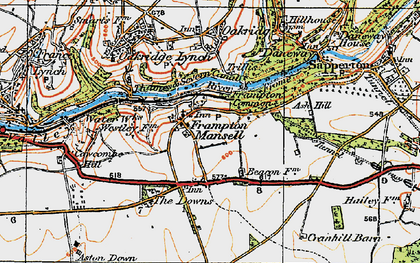 Old map of Ash Hill in 1919