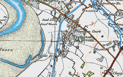 Old map of Frampton On Severn in 1919
