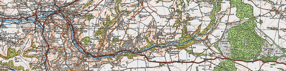 Old map of France Lynch in 1919