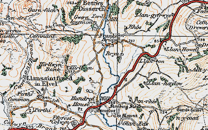 Old map of Allt-y-Coryn in 1920