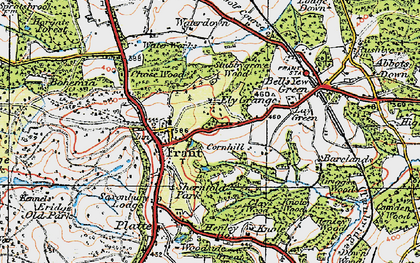 Old map of Frant in 1920