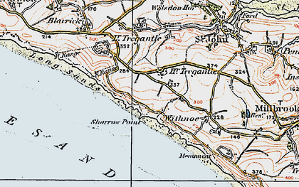 Old map of Freathy in 1919