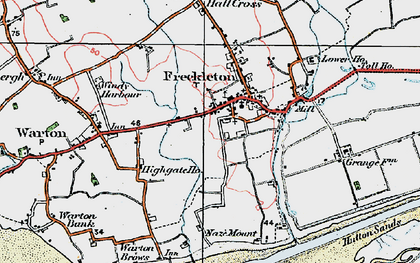 Old map of Freckleton in 1924