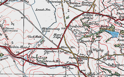 Old map of Whibbersley Cross in 1923