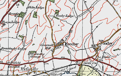 Old map of Freeby in 1921