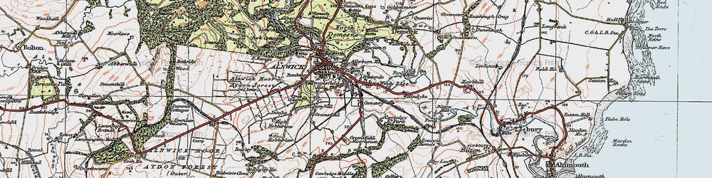 Old map of Allerburn Ho in 1925