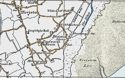 Old map of White Loaf Hall in 1922