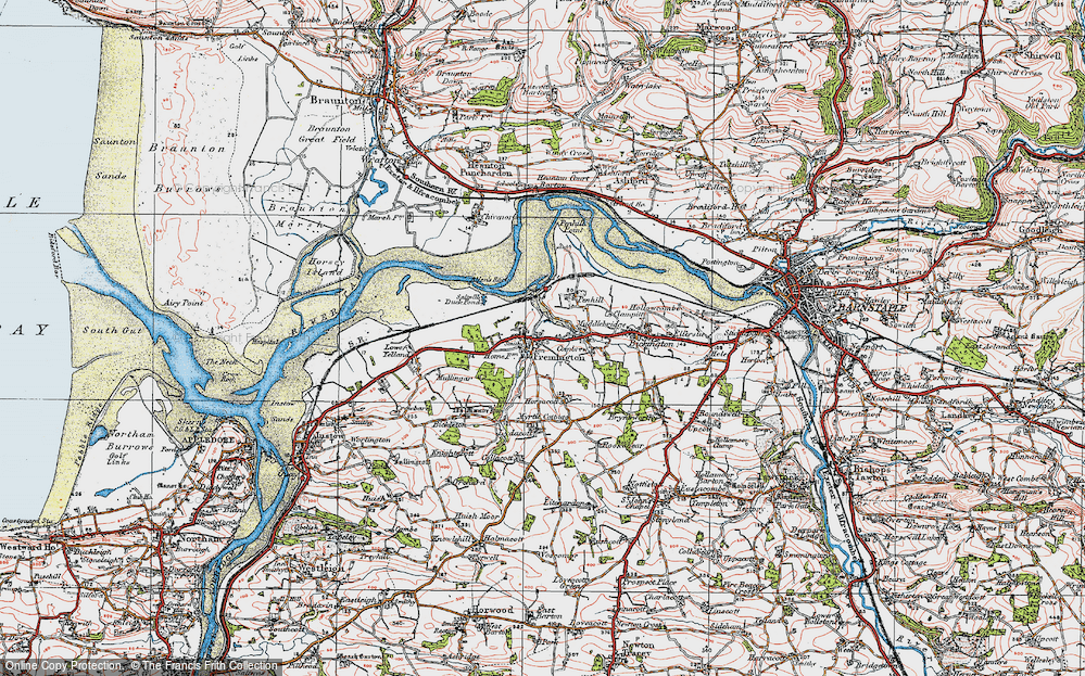 Old Map of Fremington, 1919 in 1919