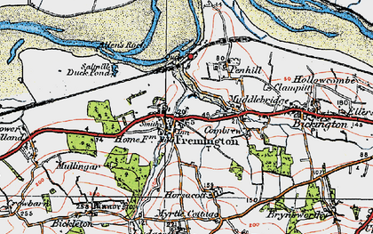 Old map of Fremington in 1919