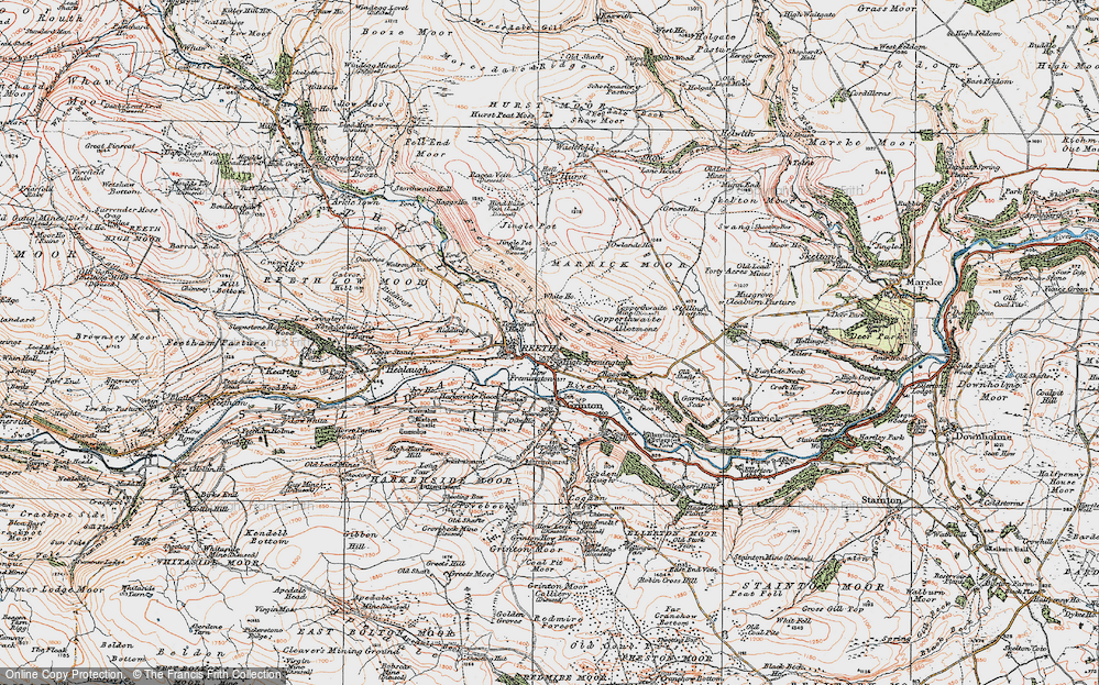 Old Map of Fremington, 1925 in 1925