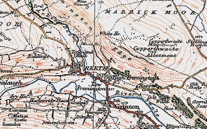 Old map of Fremington in 1925