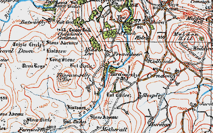 Old map of Assycombe Hill in 1919