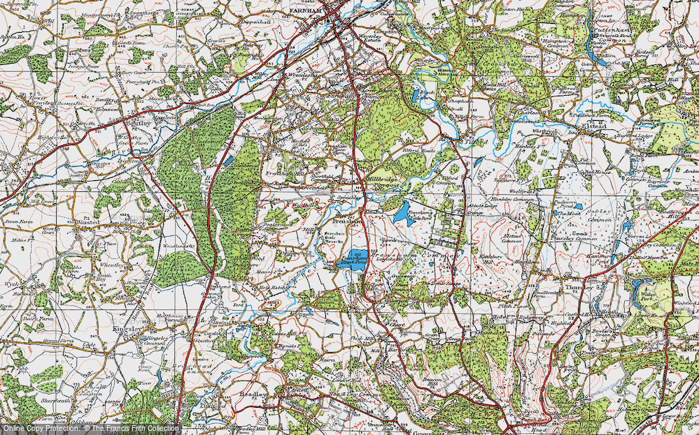 Old Map of Frensham, 1919 in 1919