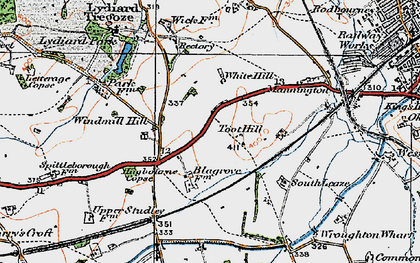 Old map of Freshbrook in 1919