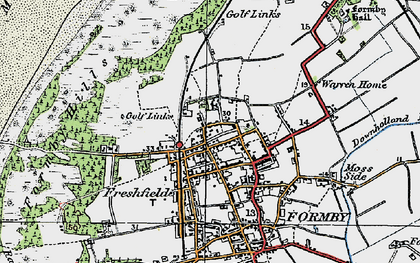 Old map of Woodvale Airfield in 1923
