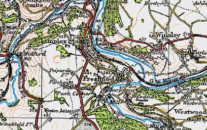 Old map of Freshford in 1919