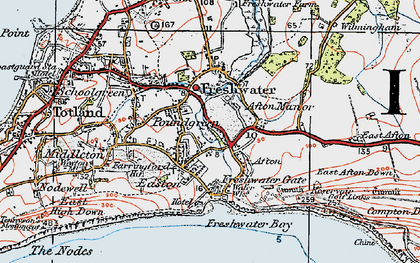 Old map of Freshwater in 1919