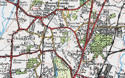 Old map of Friday Hill in 1920