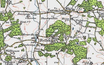 Old map of Frilsham in 1919