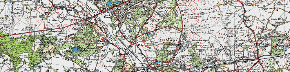Old map of Tomlin's Pond in 1919