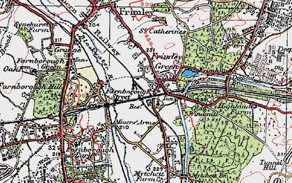 Old map of Frimley Green in 1919