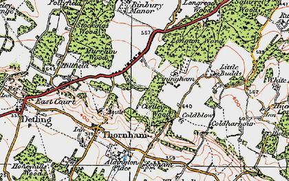 Old map of Whitehall in 1921