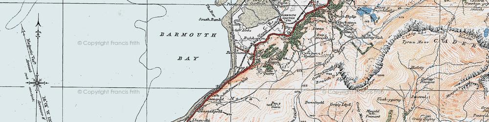 Old map of Friog in 1922