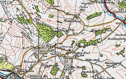 Old map of Frithsden in 1920