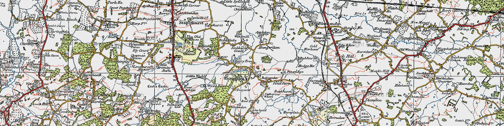Old map of Frittenden in 1921