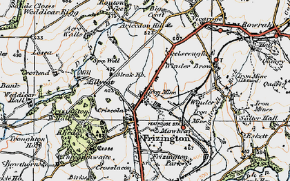 Old map of Acrewalls in 1925
