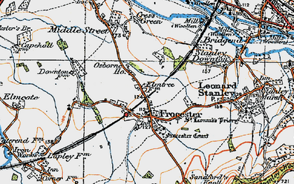 Old map of Frocester in 1919